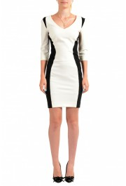 Just Cavalli Women's Two Tone 3/4 Sleeve Bodycon Dress
