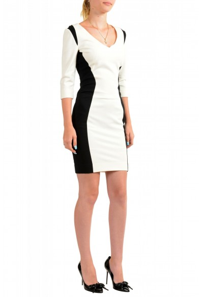 Just Cavalli Women's Two Tone 3/4 Sleeve Bodycon Dress : Picture 2
