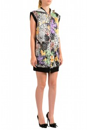 Just Cavalli Women's Multi-Color Hooded Zip Up Sleeveless Dress : Picture 2