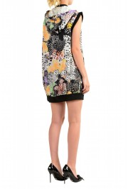 Just Cavalli Women's Multi-Color Hooded Zip Up Sleeveless Dress : Picture 3