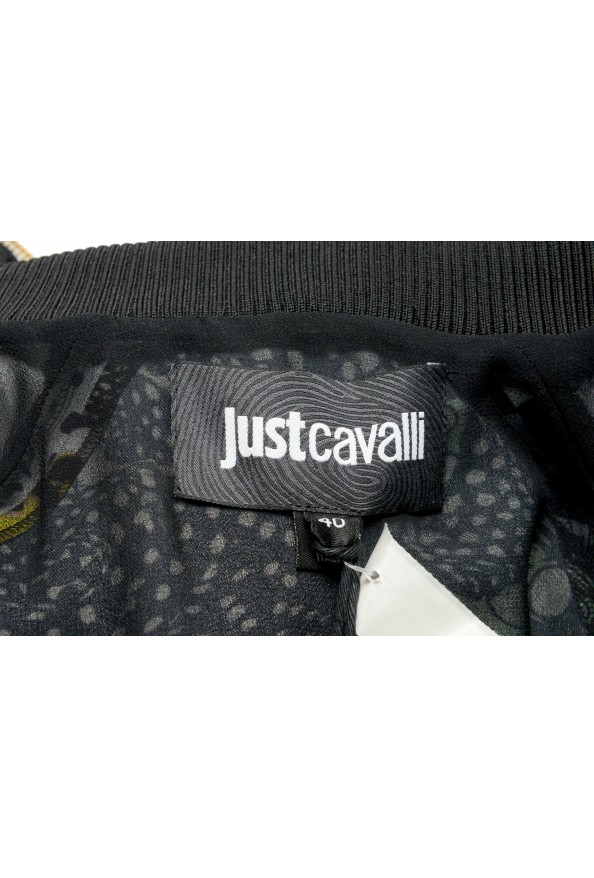 Just Cavalli Women's Multi-Color Hooded Zip Up Sleeveless Dress : Picture 5