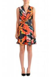 Just Cavalli Women's Two Tone Sleeveless Fit & Flare Dress