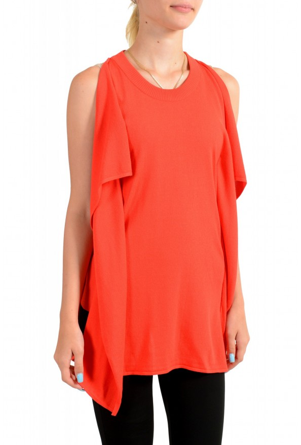 Maison Margiela Women's Red Asymmetrical Knitted Top: Picture 2