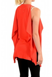 Maison Margiela Women's Red Asymmetrical Knitted Top: Picture 3