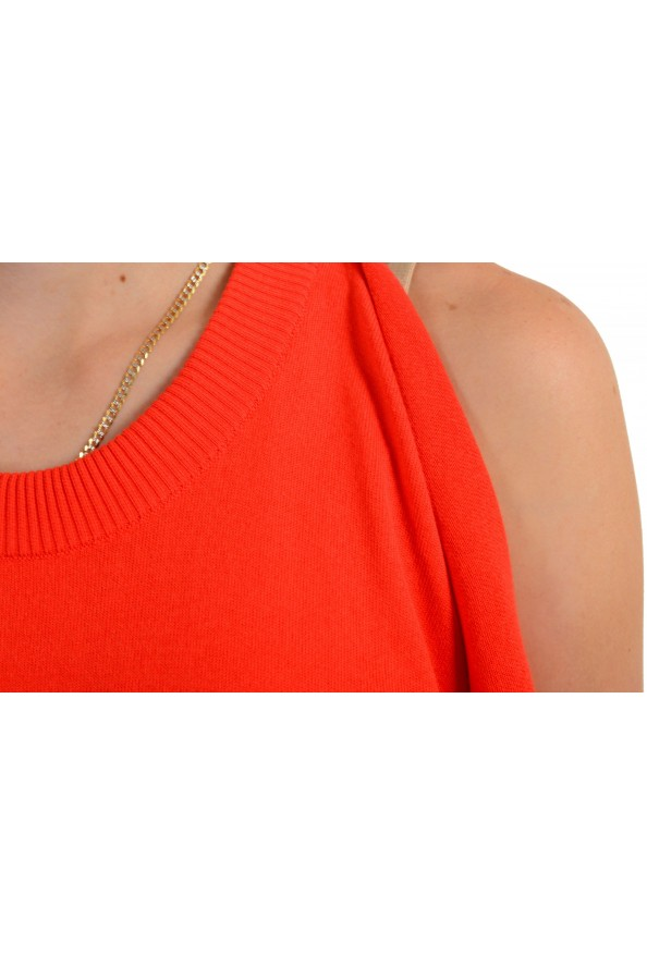 Maison Margiela Women's Red Asymmetrical Knitted Top: Picture 4