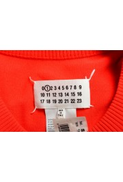 Maison Margiela Women's Red Asymmetrical Knitted Top: Picture 5