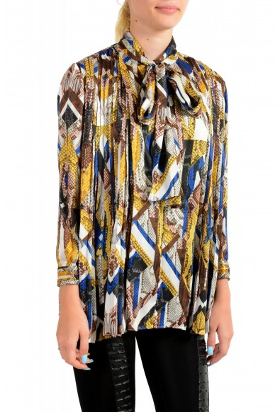 Just Cavalli Women's Multi-Color Bow Decorated Blouse Top : Picture 2