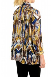 Just Cavalli Women's Multi-Color Bow Decorated Blouse Top : Picture 3