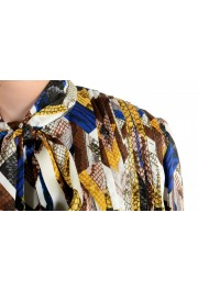 Just Cavalli Women's Multi-Color Bow Decorated Blouse Top : Picture 4