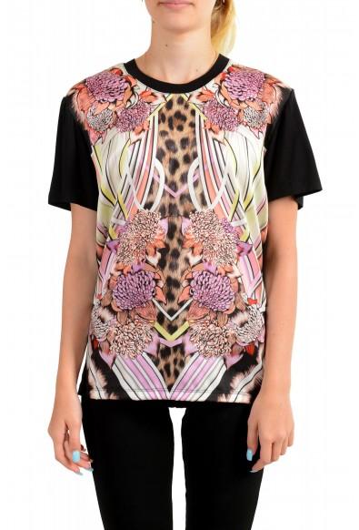 Just Cavalli Women's Multi-Color Floral Print Blouse Top
