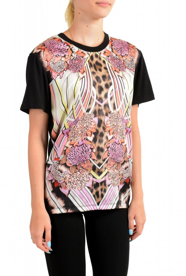 Just Cavalli Women's Multi-Color Floral Print Blouse Top : Picture 2