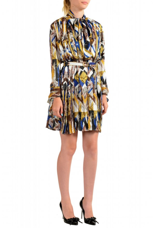 Just Cavalli Women's Multi-Color Pleated Belted Dress : Picture 2