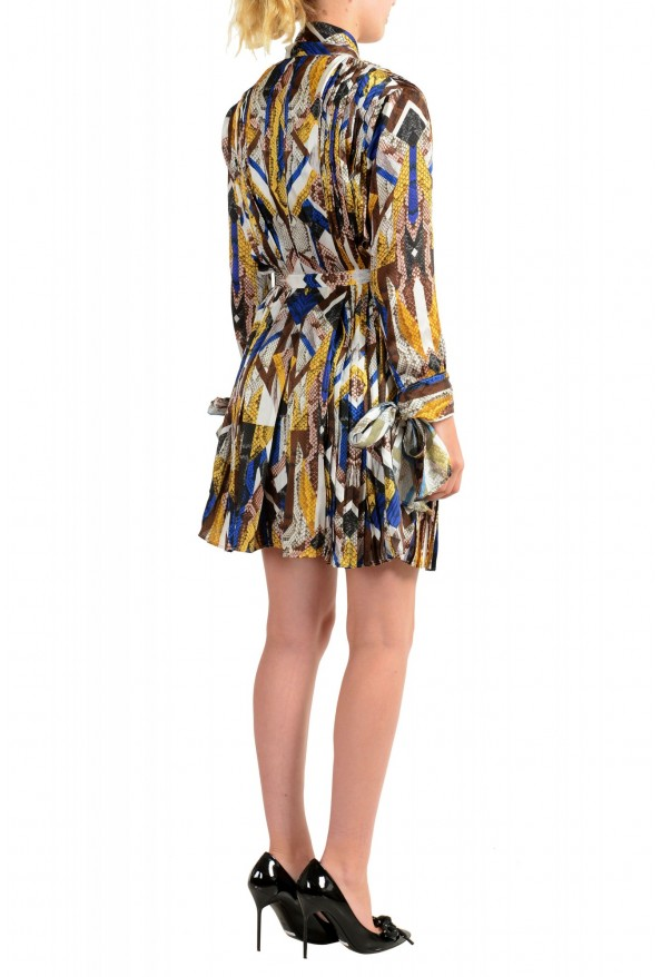 Just Cavalli Women's Multi-Color Pleated Belted Dress : Picture 3
