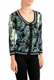Just Cavalli Women's Multi-Color Floral Print Wool Cardigan Sweater : Picture 2