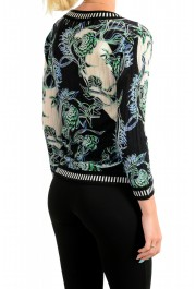 Just Cavalli Women's Multi-Color Floral Print Wool Cardigan Sweater : Picture 3