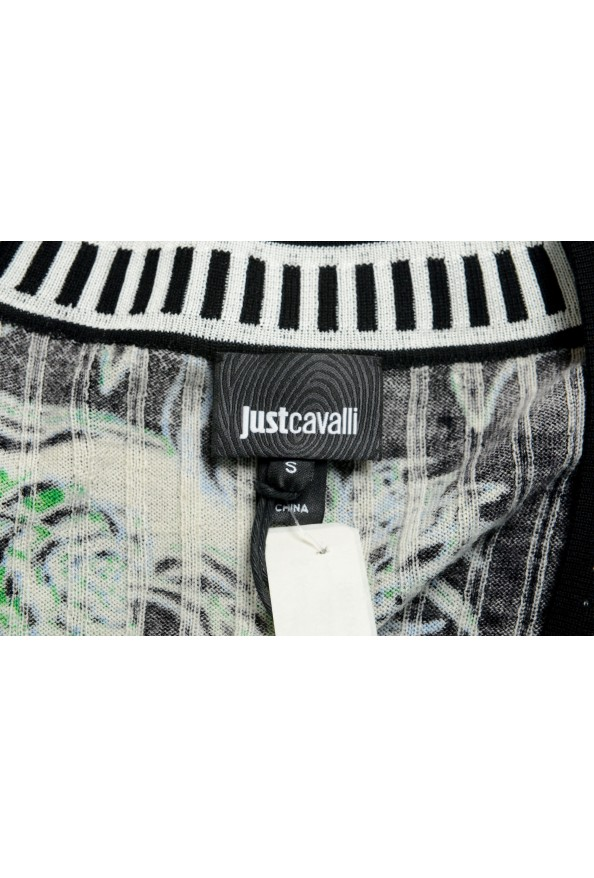 Just Cavalli Women's Multi-Color Floral Print Wool Cardigan Sweater : Picture 5