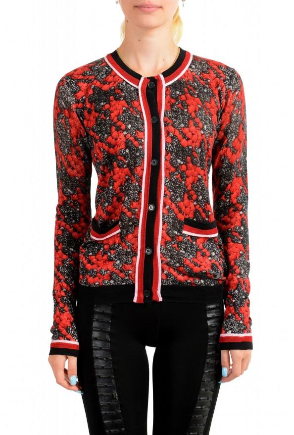 Just Cavalli Women's Multi-Color Silk Cashmere Cardigan Sweater