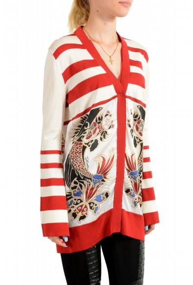 Just Cavalli Women's Multi-Color Floral Print Cardigan Sweater : Picture 2