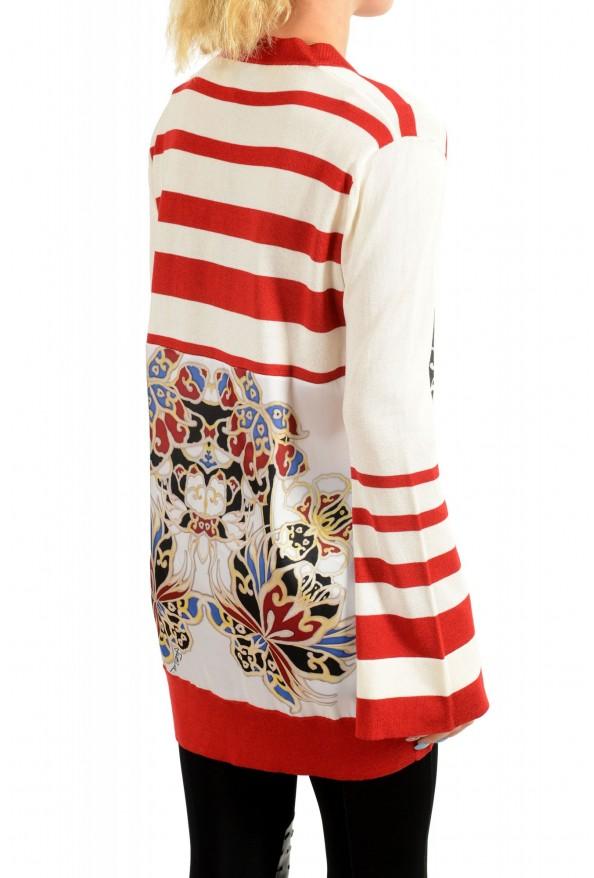 Just Cavalli Women's Multi-Color Floral Print Cardigan Sweater : Picture 3