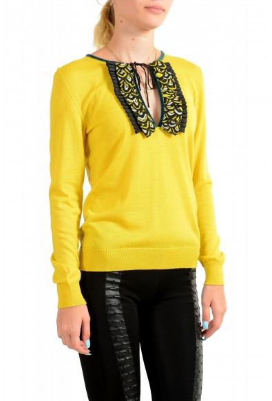 Just Cavalli Women's Yellow Wool Silk Cashmere Pullover Sweater : Picture 2