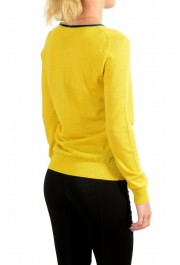 Just Cavalli Women's Yellow Wool Silk Cashmere Pullover Sweater : Picture 3