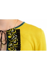 Just Cavalli Women's Yellow Wool Silk Cashmere Pullover Sweater : Picture 4