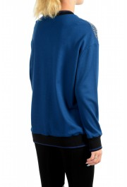 Just Cavalli Women's Blue Embellished Pullover Sweatshirt Sweater: Picture 3