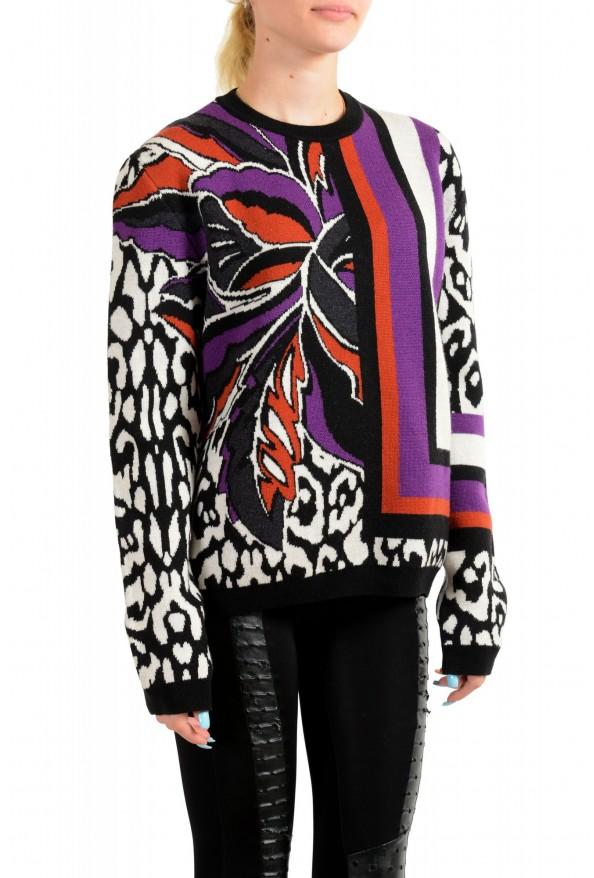 Just Cavalli Women's Multi-Color 100% Wool Crewneck Pullover Sweater: Picture 2