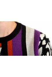 Just Cavalli Women's Multi-Color 100% Wool Crewneck Pullover Sweater: Picture 5