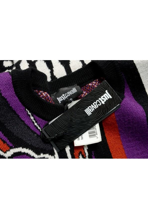 Just Cavalli Women's Multi-Color 100% Wool Crewneck Pullover Sweater: Picture 7