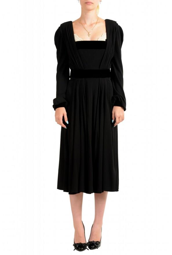Just Cavalli Women's Black Long Sleeve Evening Dress
