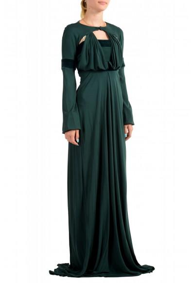 Just Cavalli Women's Emerald Green Long Sleeve Evening Dress: Picture 2