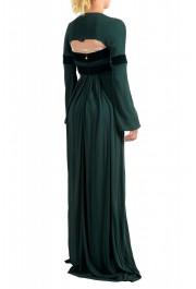 Just Cavalli Women's Emerald Green Long Sleeve Evening Dress: Picture 3