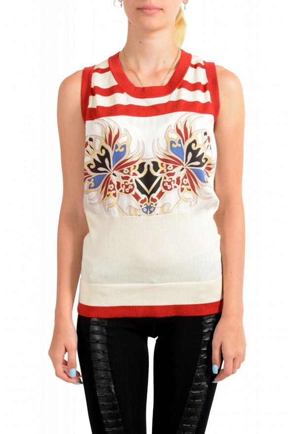 Just Cavalli Women's Multi-Color Sleeveless Blouse Top