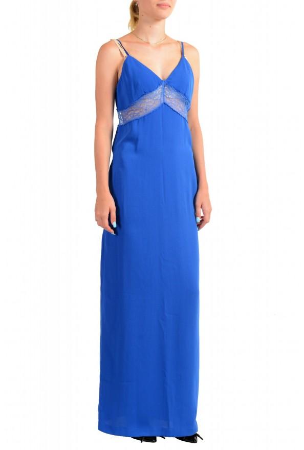 Maison Margiela Women's Bright Blue Lace Trimmed Evening Dress: Picture 2