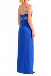 Maison Margiela Women's Bright Blue Lace Trimmed Evening Dress: Picture 3