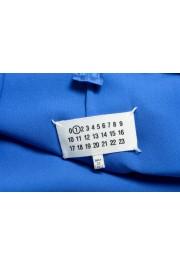 Maison Margiela Women's Bright Blue Lace Trimmed Evening Dress: Picture 5