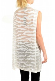 Just Cavalli Women's Ivory Silk Sleeveless Blouse Top: Picture 3
