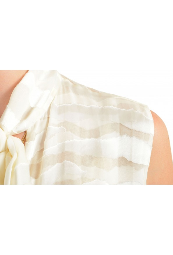 Just Cavalli Women's Ivory Silk Sleeveless Blouse Top: Picture 4