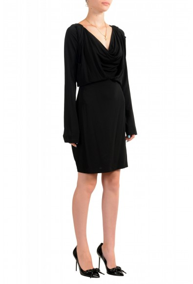 Just Cavalli Women's Black Long Sleeve Fit & Flare Dress: Picture 2