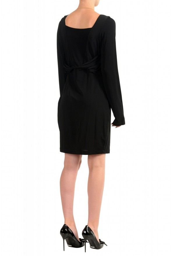 Just Cavalli Women's Black Long Sleeve Fit & Flare Dress: Picture 3