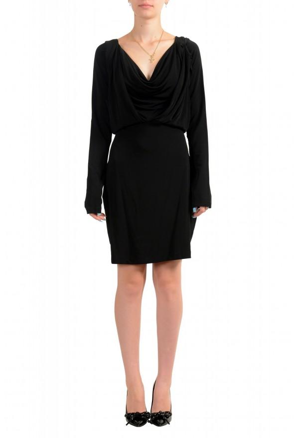Just Cavalli Women's Black Long Sleeve Fit & Flare Dress