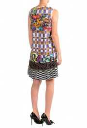 Just Cavalli Women's Multi-Color Pleated Sleeveless Sundress Dress : Picture 3