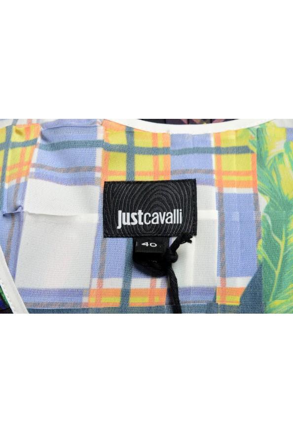 Just Cavalli Women's Multi-Color Pleated Sleeveless Sundress Dress : Picture 4