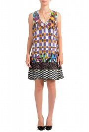 Just Cavalli Women's Multi-Color Pleated Sleeveless Sundress Dress