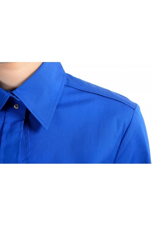 "Hugo Boss Women's ""Dashina2"" Blue 3/4 Sleeve Midi Belted Dress: Picture 4"