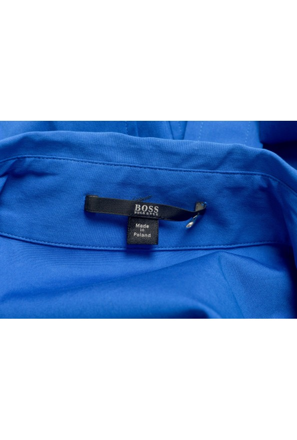 "Hugo Boss Women's ""Dashina2"" Blue 3/4 Sleeve Midi Belted Dress: Picture 5"