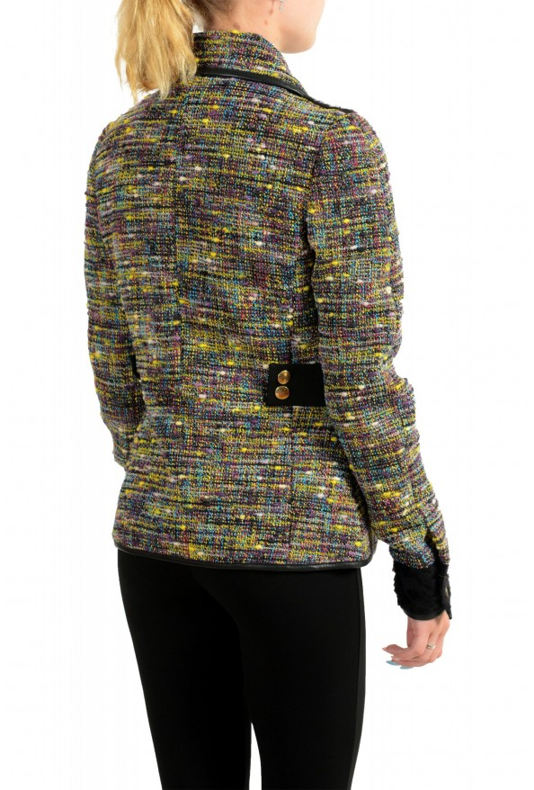 Just Cavalli Women's Multi-Color Wool Full Zip Jacket: Picture 3