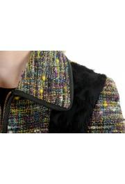 Just Cavalli Women's Multi-Color Wool Full Zip Jacket: Picture 4