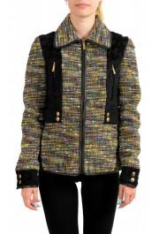 Just Cavalli Women's Multi-Color Wool Full Zip Jacket